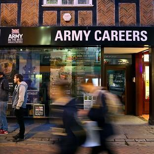 The Army Careers office in Canterbury, Kent, one of the armed forces recruitment offices where suspected explosive devices have been found