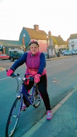 Natalie's cycle ride to help unwanted animals