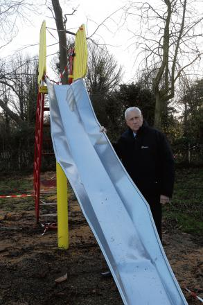 Slide smashed by tree will cost £10,000 to replace
