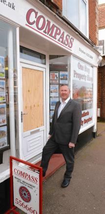 Burglars foiled by brave businessman