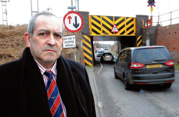 Traffic lights for notorious railway underpass