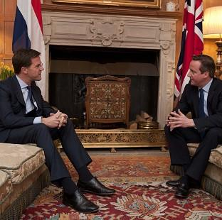 Harwich and Manningtree Standard: Prime Minister David Cameron (right) talks with the Prime Minister of the Netherlands Mark Rutte at Chequers