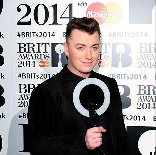 Harwich and Manningtree Standard: Sam Smith saw his single race to the top of the charts in the week that he picked up a Brit award