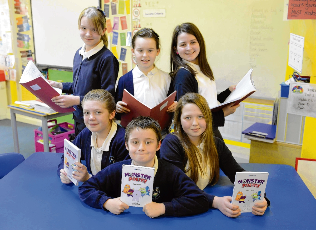 Youngsters win national acclaim with monster poetry