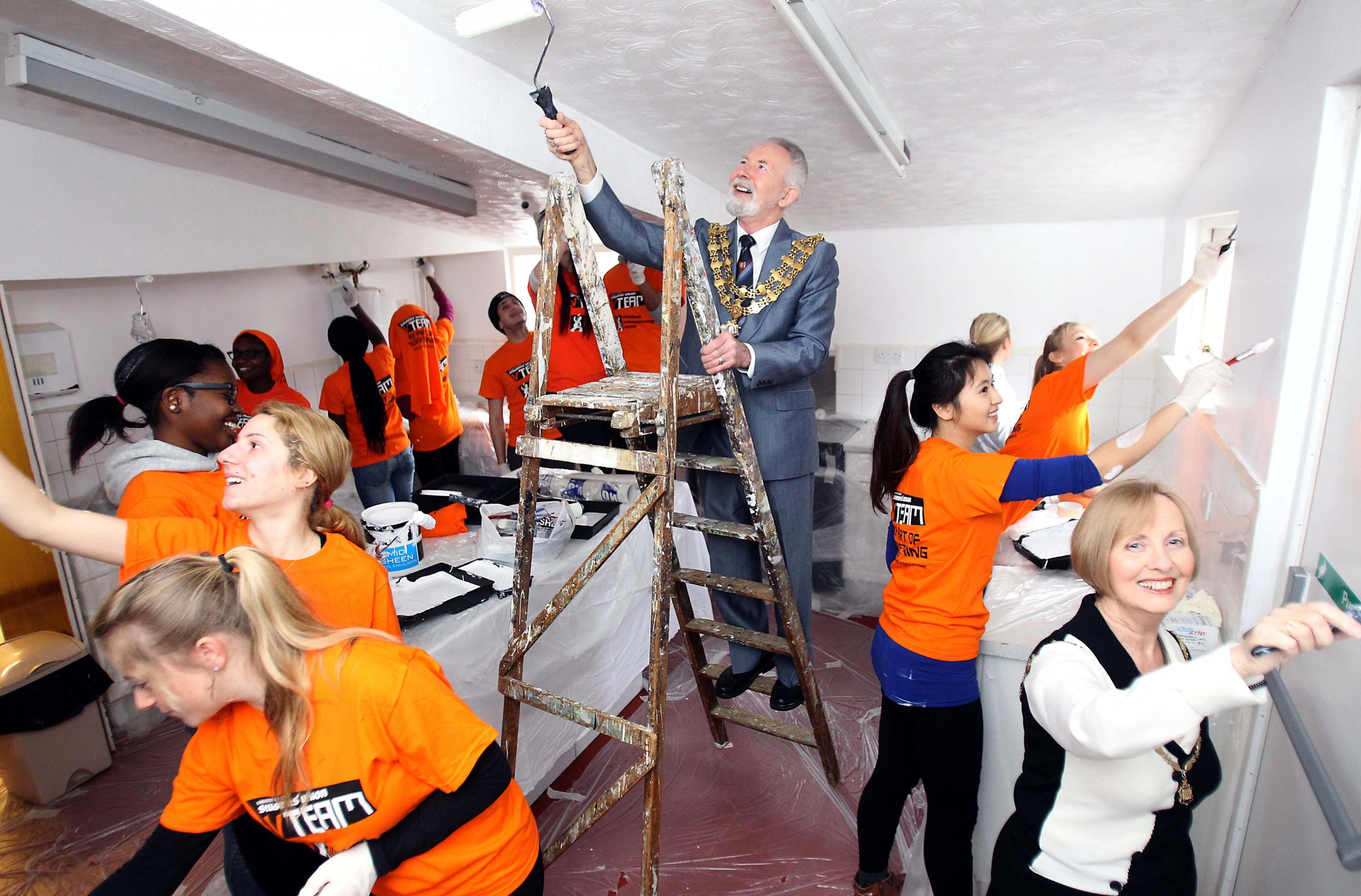Students give community hall welcome facelift
