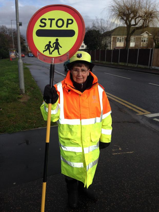Harwich and Manningtree Standard: A lollipop lady at Cherry Tree Primary School