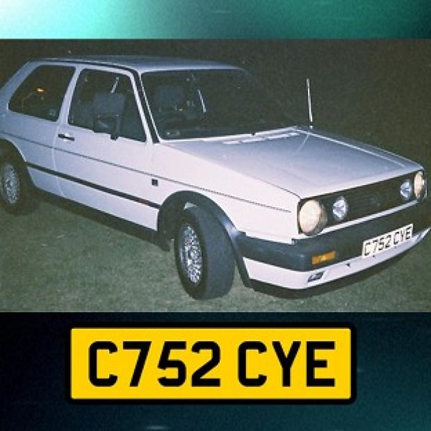 Harwich and Manningtree Standard: Undated handout photo issued by Avon and Somerset Police of a white VW Golf GTi hardtop, registration C752 CYE, police investigating the murder of university graduate Melanie Hall nearly 20 years ago are to make a new appeal for information on the BBC Cri