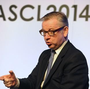 Harwich and Manningtree Standard: Education Secretary Michael Gove answers questions during the ASCL Annual Conference