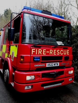 Fire crews help after crash between car and motorbike