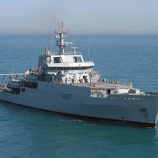 HMS Echo is helping in the search for the missing plane.