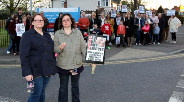 Mums protest over Harwich maternity unit closure