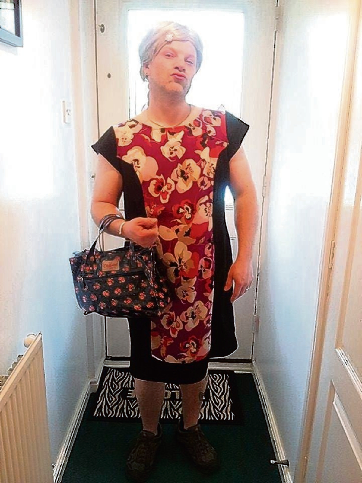 Russell's day in drag for charity