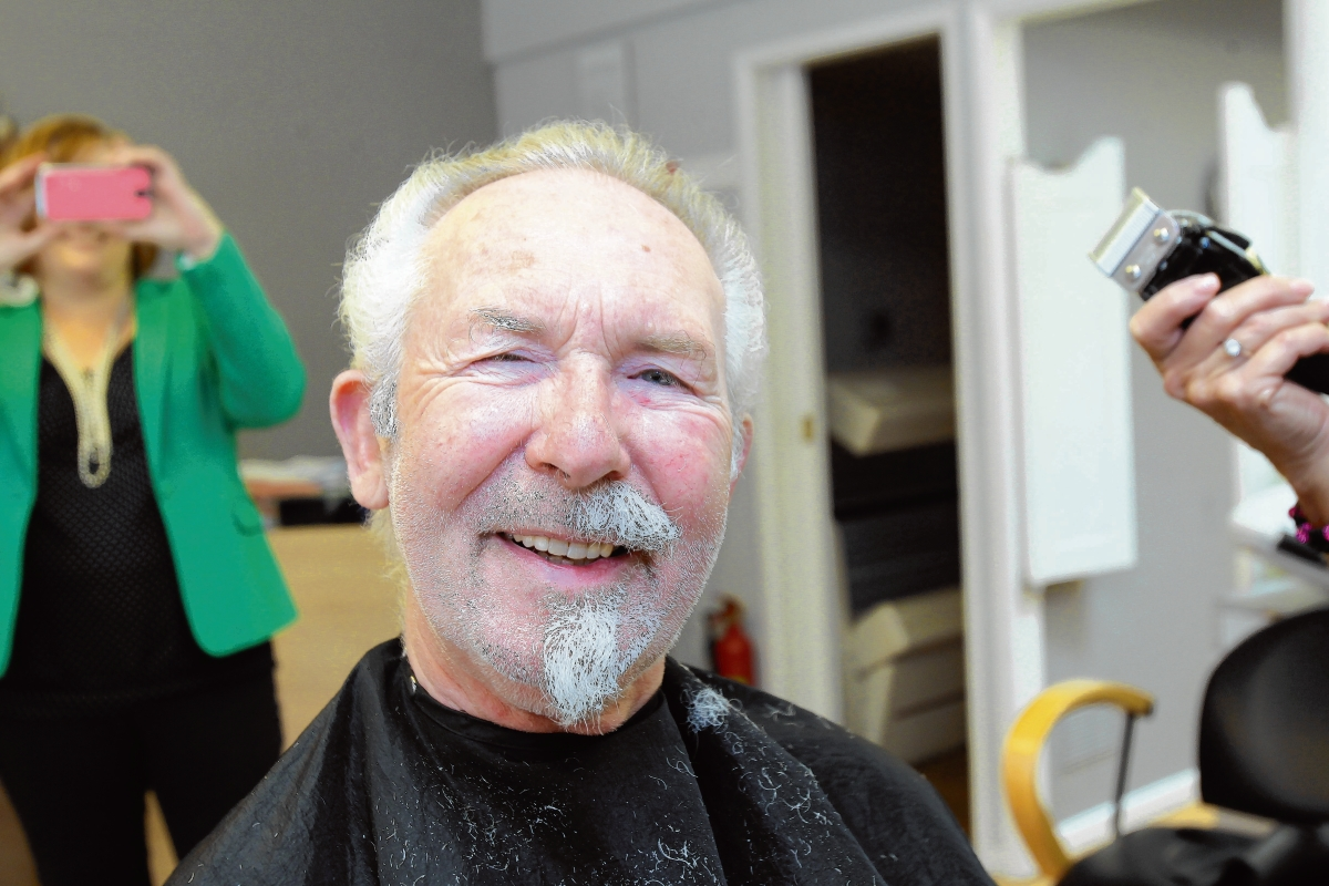 Close shave for mayor to raise charity cash