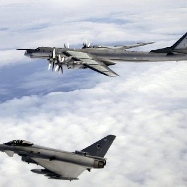 Harwich and Manningtree Standard: RAF Typhoons (below) were sent to monitor Russian aircraft.