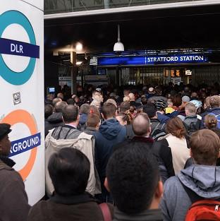 Harwich and Manningtree Standard: Commuters at Stratford station in east London, on the first day of a 48 hour strike by tube workers
