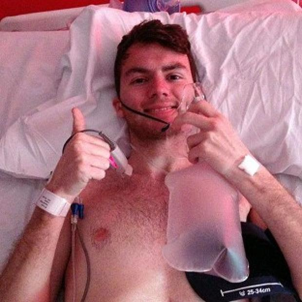 Harwich and Manningtree Standard: Stephen Sutton, 19, has told his supporters via Facebook that he is back in hospital
