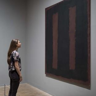 Black on Maroon 1958 by influential artist Mark Rothko has gone back on display after 18 months of restoration work after it was vandalised at Tate Modern