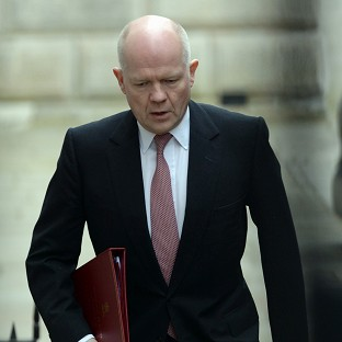 William Hague said he was deeply saddened to hear the news of the mining disaster in Turkey