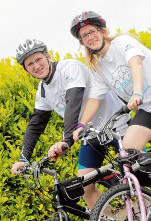 Couple to cycle 110 miles for bereavement charity