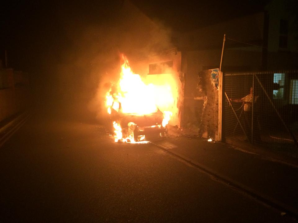 Firefighters called to car blazes in Dovercourt