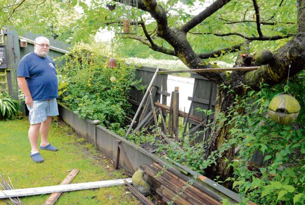 Furious resident demands action after another crashes into his garden