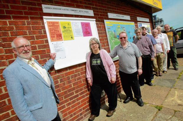Harwich and Manningtree Standard: Display boards hailed as a success
