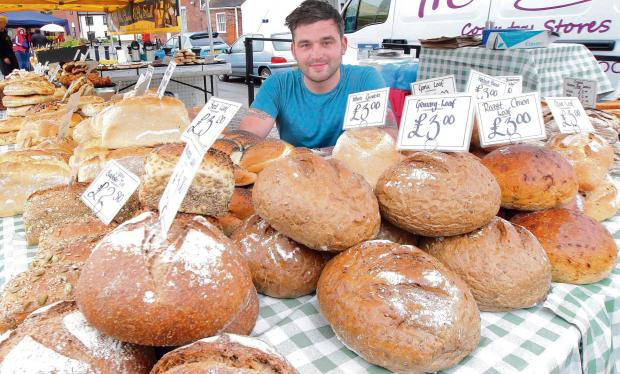 Sam Wincott, sold fresh bread from McCarthys when the market relaunched on Wednesdays a year ago.