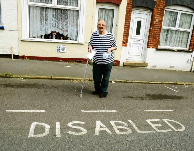 Elderly motorist fined for parking in his own disabled bay