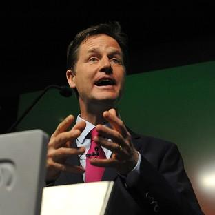 Nick Clegg is at odds with the Tories o