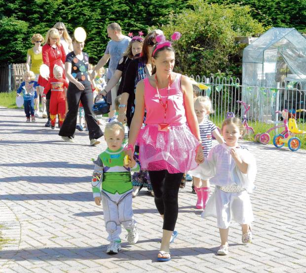 Space-themed fun as youngsters take part in toddle for charity