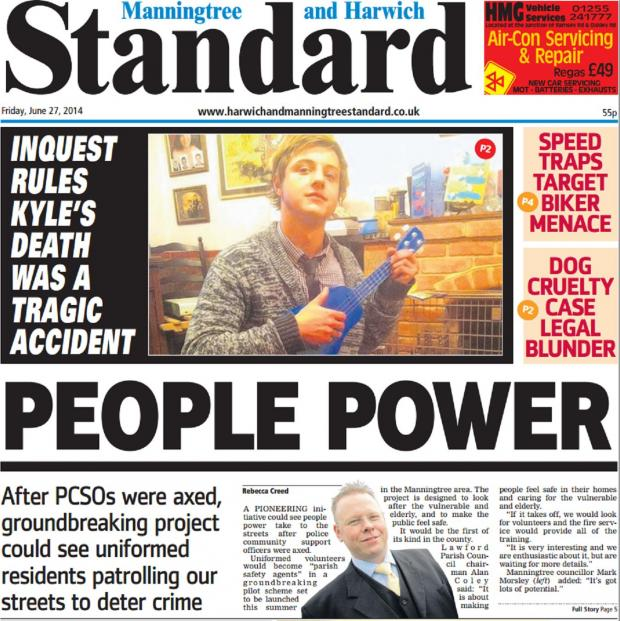 Harwich and Manningtree Standard: In this week's Standard