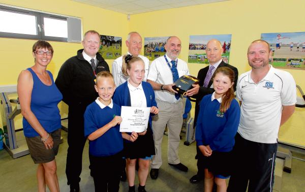 Firm in lifesaving donation to school