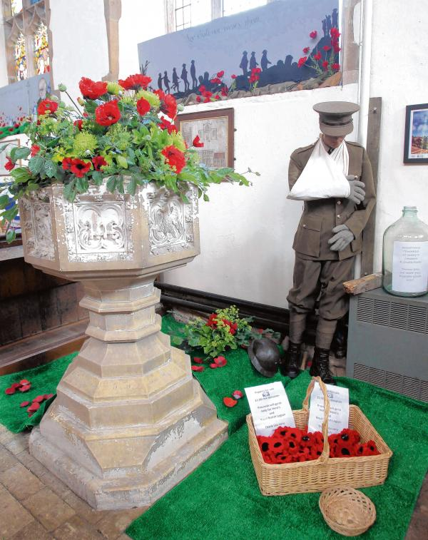 Florists knit poppies for heroes
