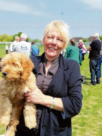 Secretary Jane Nettleton at one of the charity's fundraising dog shows