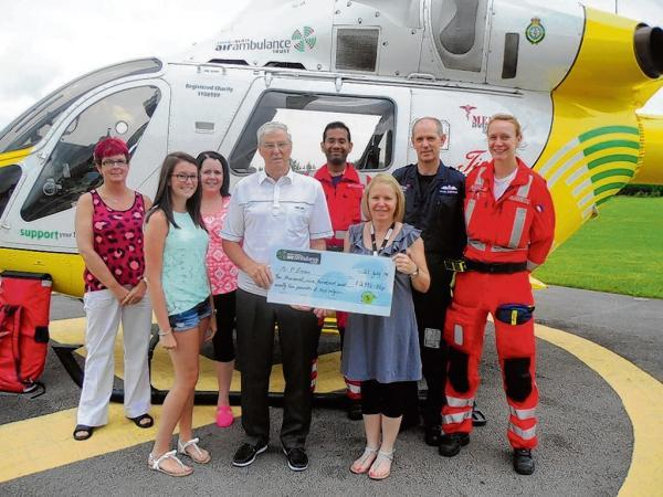 Ambulance prize for charity supporter