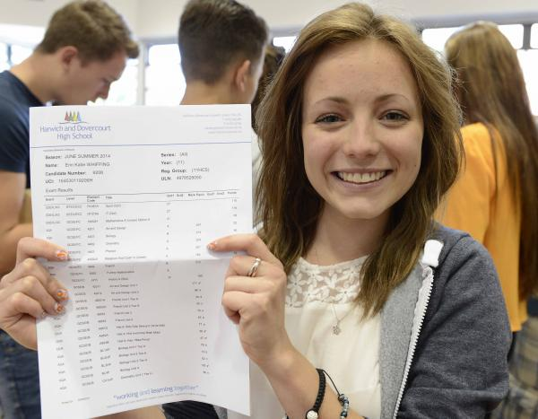 GCSE glee as Manningtree High post record results