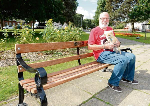 Seat installed in memory of politician Steven