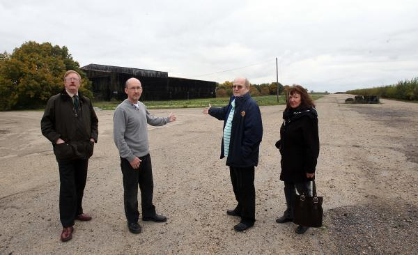 Anti-waste plant campaigners Howard Bills, James Abbott, Bob Wright and Felicity Mawson pic