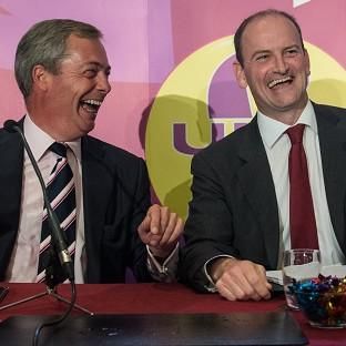 Harwich and Manningtree Standard: UKIP leader Nigel Farage (left) with Douglas Carswell who has defected from the Conservatives