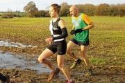 BATTLING THE CONDITIONS: Kate Hodgkiss on her way to victory in the mud.