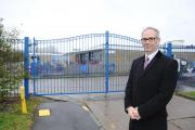Basildon Council leader Phil Turner, outside Kingswood Junior School