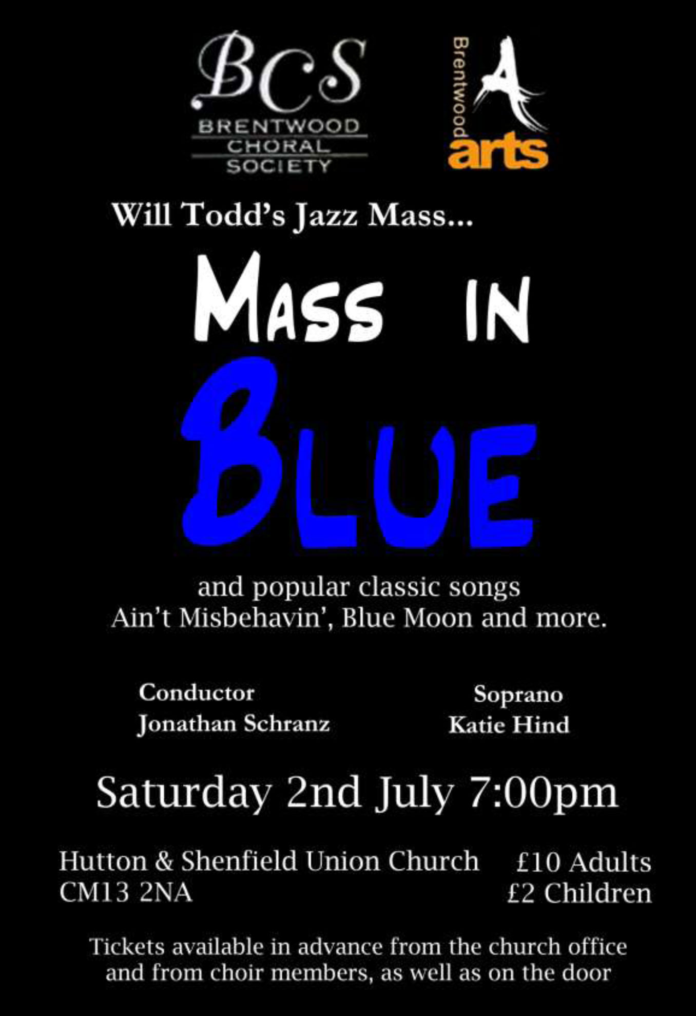 Brentwood Choral Society present Mass in Blue