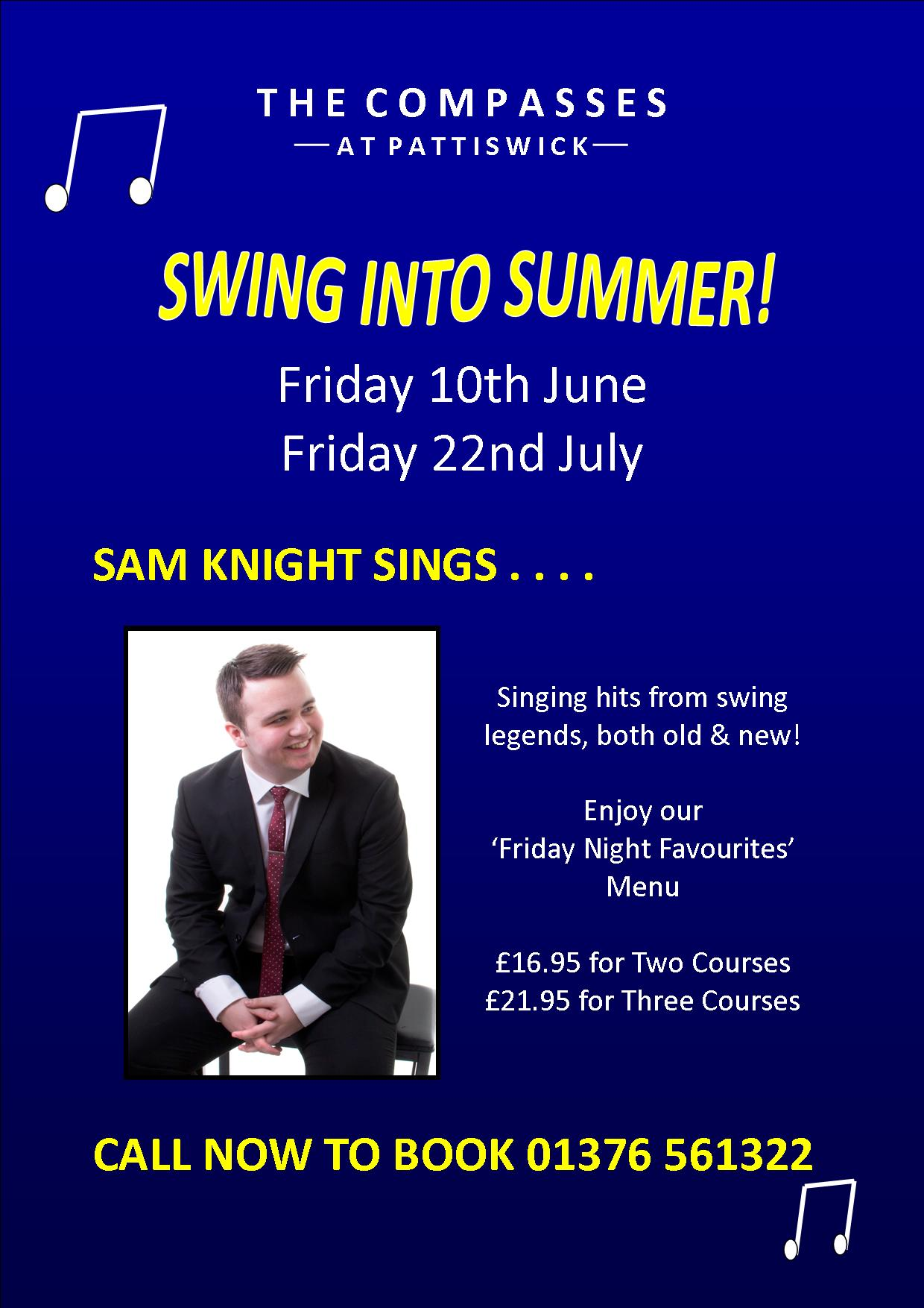 SWING INTO SUMMER! Live Music from Sam Knight