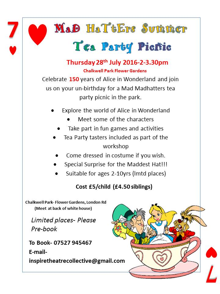 Mad Madhatters Summer Picnic Tea Party