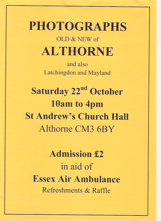 Photographs of Althorne, Old & New