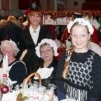 Harwich and Manningtree Standard: FESTIVE CHEER: Stallholders at last year's Victorian Christmas market.