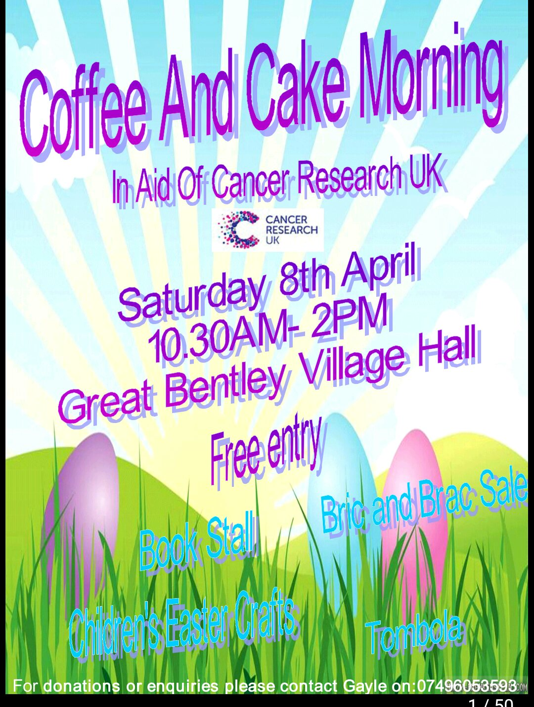 Coffee and cake morning fundraiser