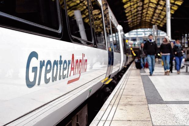 Greater Anglia train. Stock image