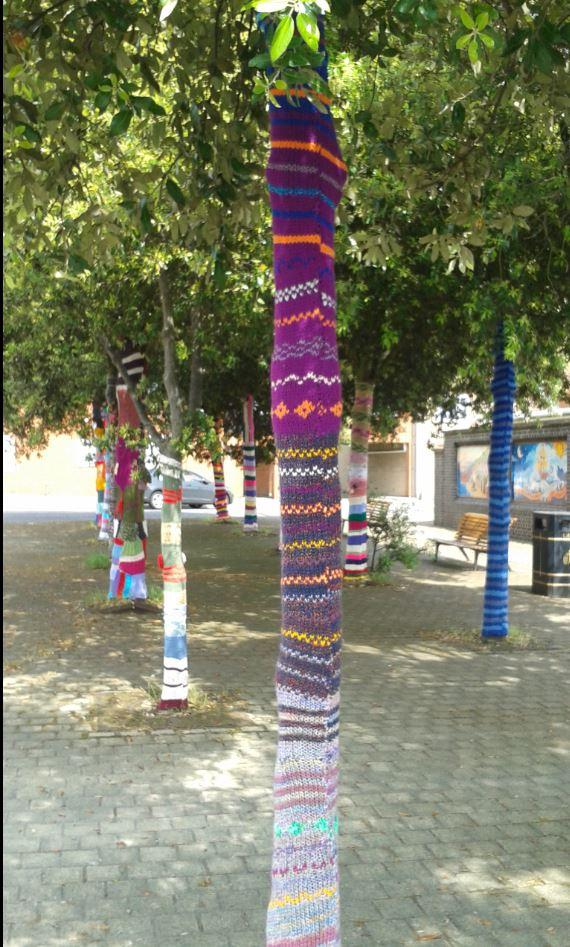 Public knitting taken down after complaint