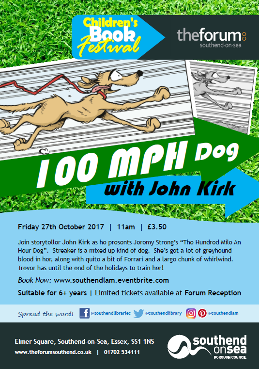 Children's Book Festival: 100 MPH Dog with John Kirk (Forum)